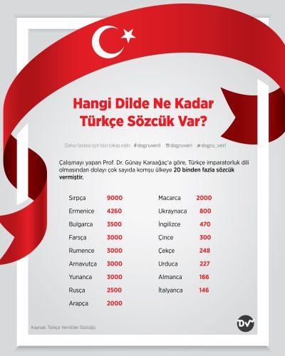Hangi Dilde Ne Kadar Türkçe Sözcük Var?