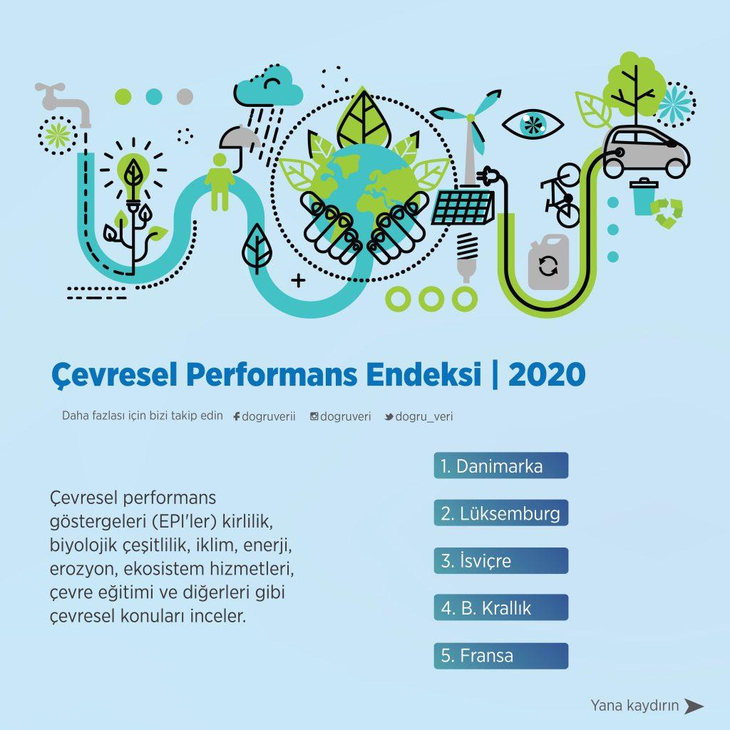 Çevresel Performans Endeksi, 2020