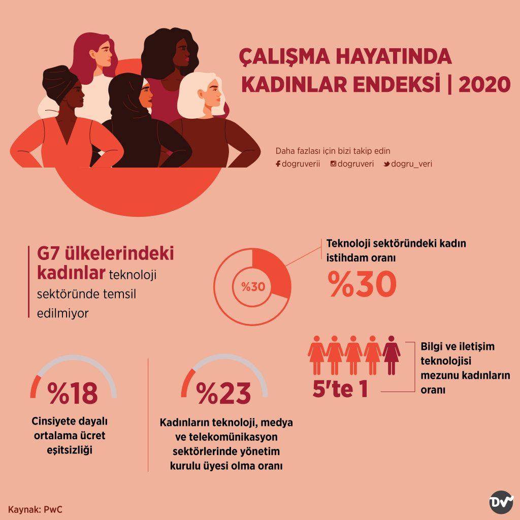 ÇALIŞMA HAYATINDA KADINLAR ENDEKSİ, 2020